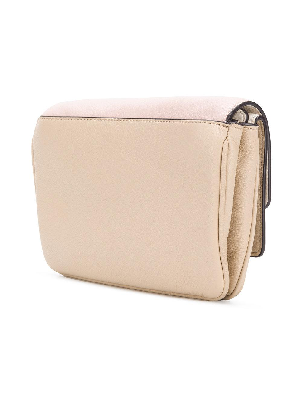 87e5b855b5cd Lyst - Michael Kors Triple Flap Crossbody Bag in Pink