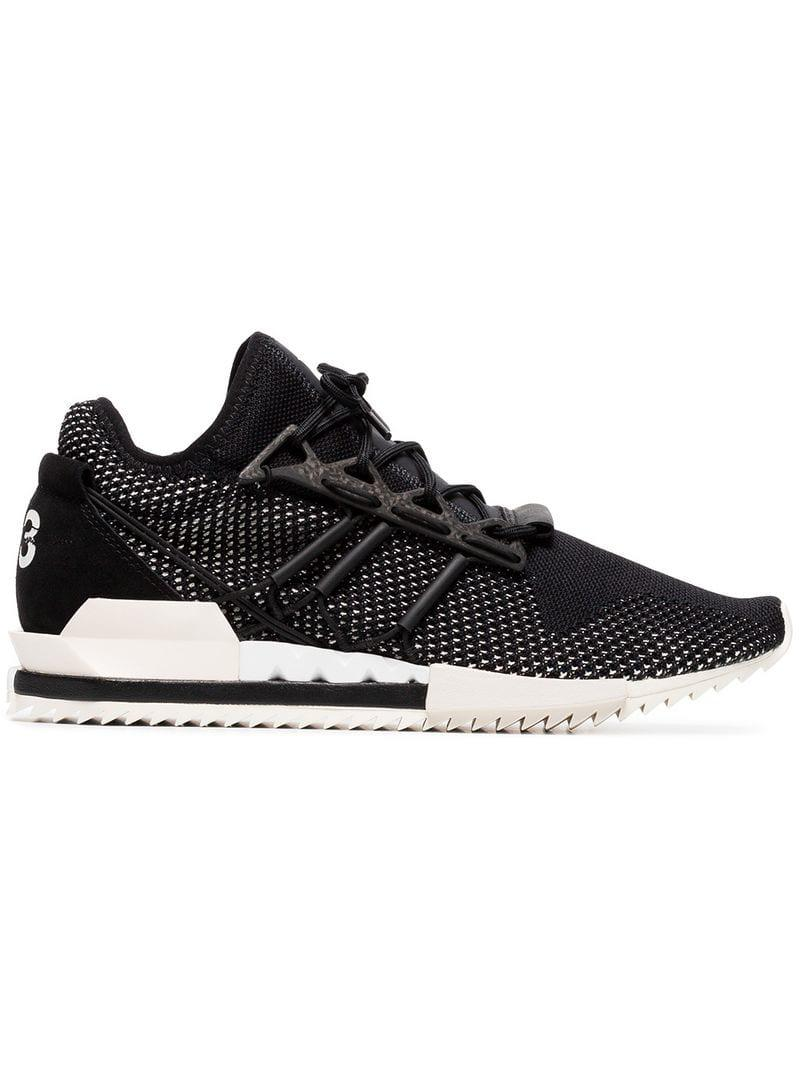 967971c85 Lyst - Y-3 Black Harigane Leather Sneakers in Black for Men