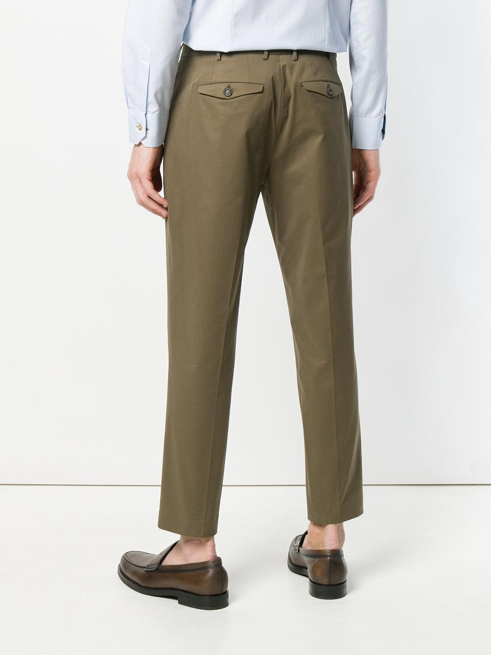 High Quality Cheap Price Cheap Sale Official Site cropped chinos - Green Dell'Oglio Quality Outlet Store Inexpensive Online Ai1MM