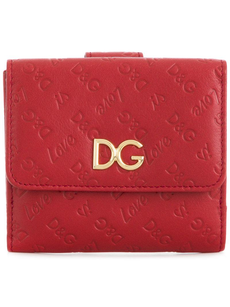 Dolce & Gabbana logo embossed french flap wallet Good Selling Sale Online 2018 Unisex Cost Buy Cheap Hot Sale 15xlX10Zz