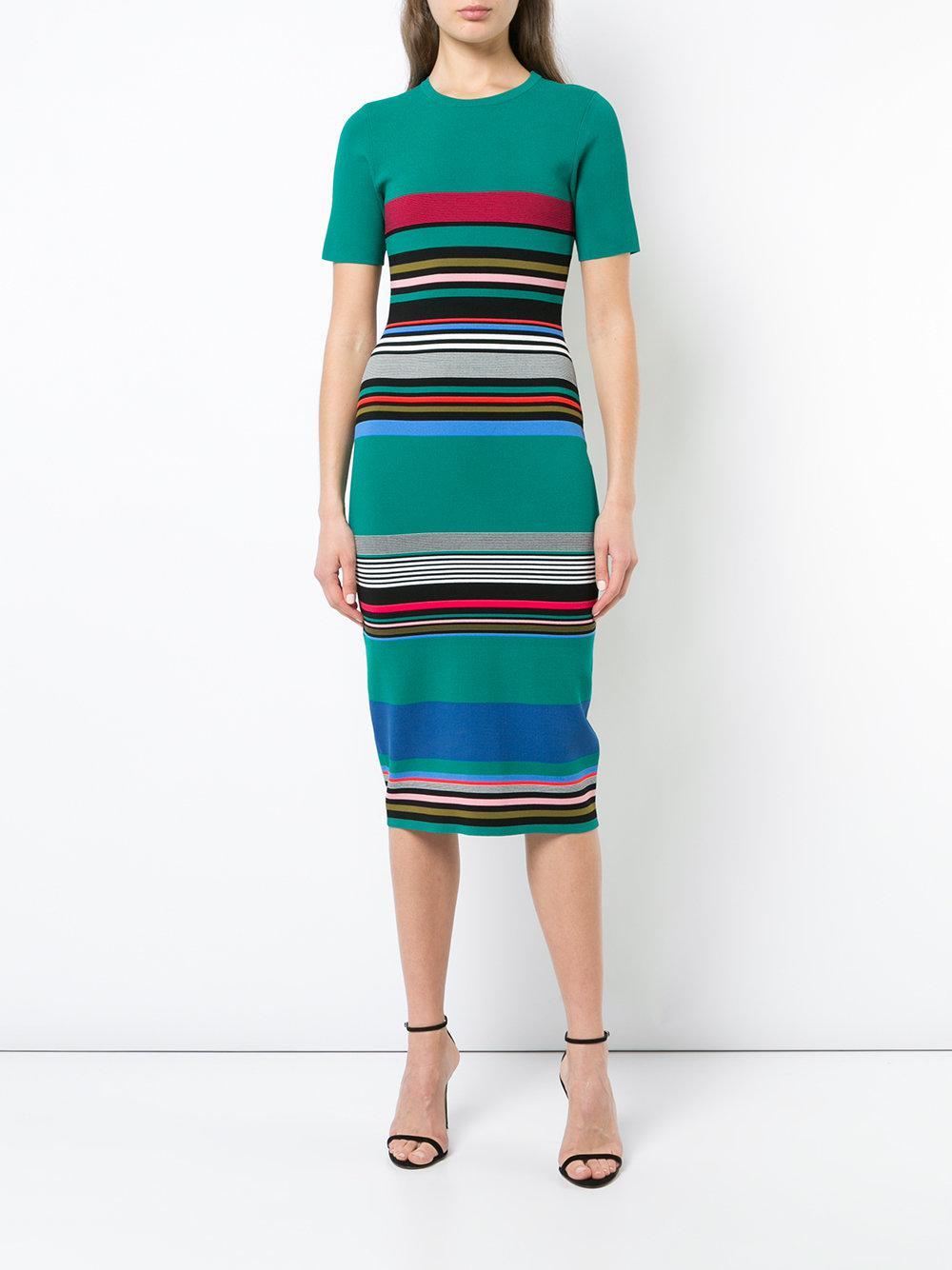 d381728acb Lyst - Diane Von Furstenberg Soft Shoulder Sweater Dress in Green