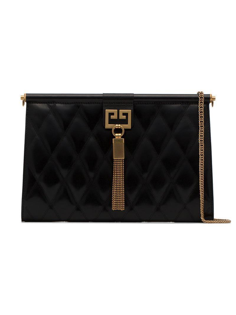 Lyst - Givenchy Black Gem Medium Quilted Leather Shoulder Bag in ... e76e2e98b0