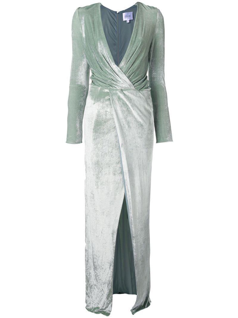 556ef4aa59e6 Galvan - Green Vera Velvet Dress - Lyst. View fullscreen