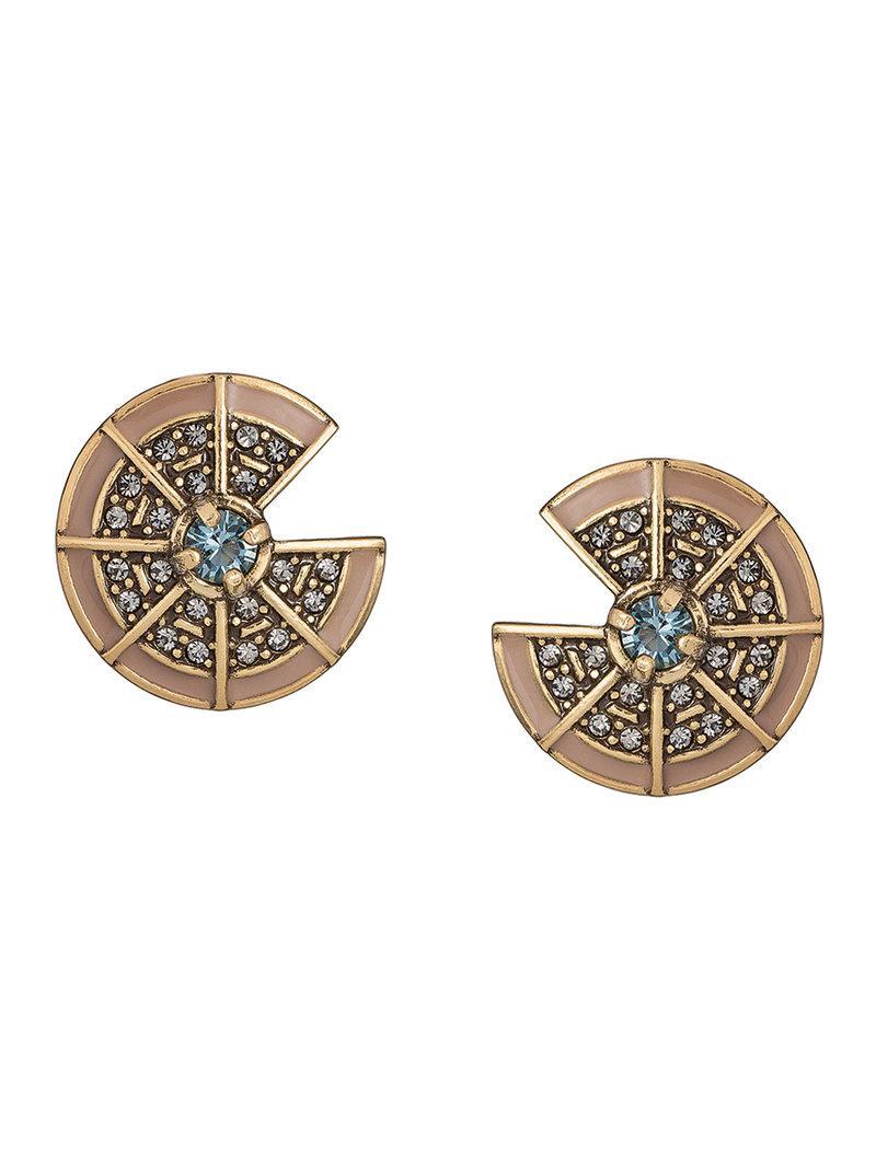 embellished earrings - Metallic Camila Klein OYjFHlNX9