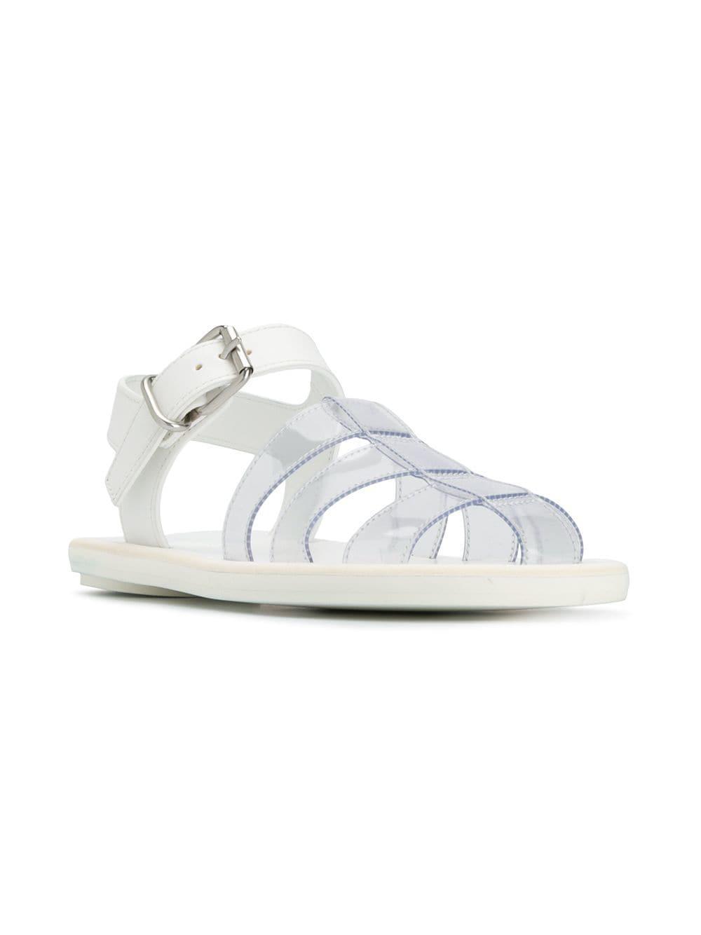 c17d5a3850b0 MM6 by Maison Martin Margiela - White Transparent Pool Sandals - Lyst. View  fullscreen