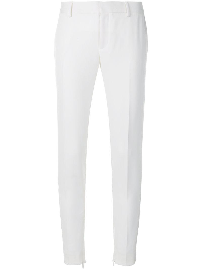 tailored fitted trousers - White Saint Laurent mwEfp
