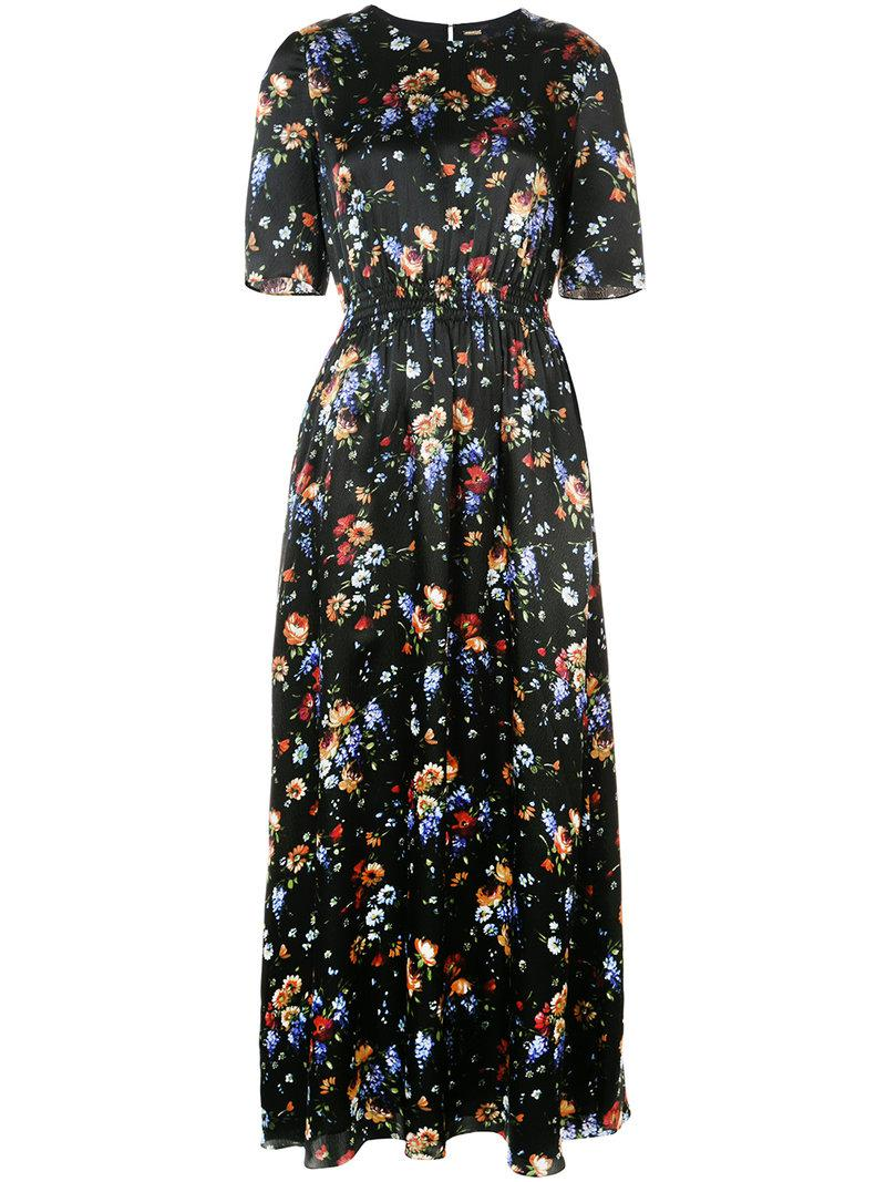 Clearance Get Authentic Cheap Sale Outlet floral-print smocked maxi dress - Black Adam Lippes Outlet Footaction dUQqy0HuIo