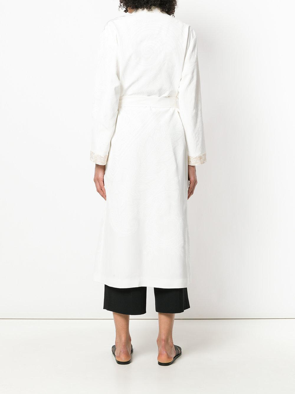 255cf5a508b Etro - White Paisley Textured Belted Robe - Lyst. View fullscreen