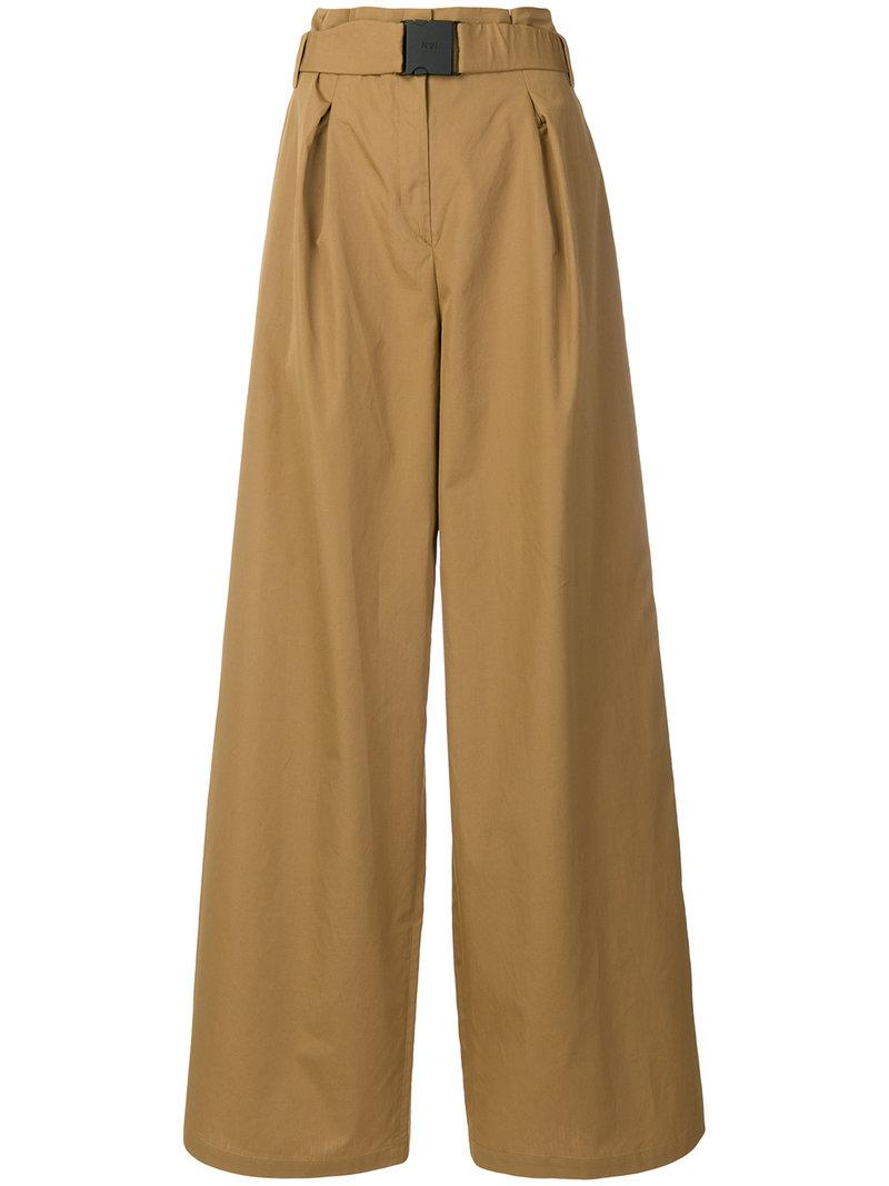 high-waisted wide-leg trousers - Brown N°21 2hM7co3x