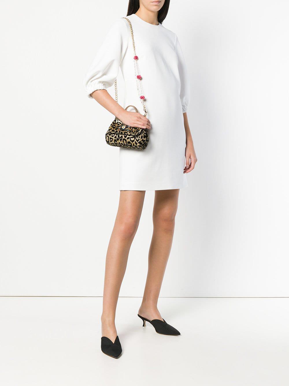 Dolce   Gabbana Sicily Mini Tote Bag in Yellow - Lyst 987f94a42dea4