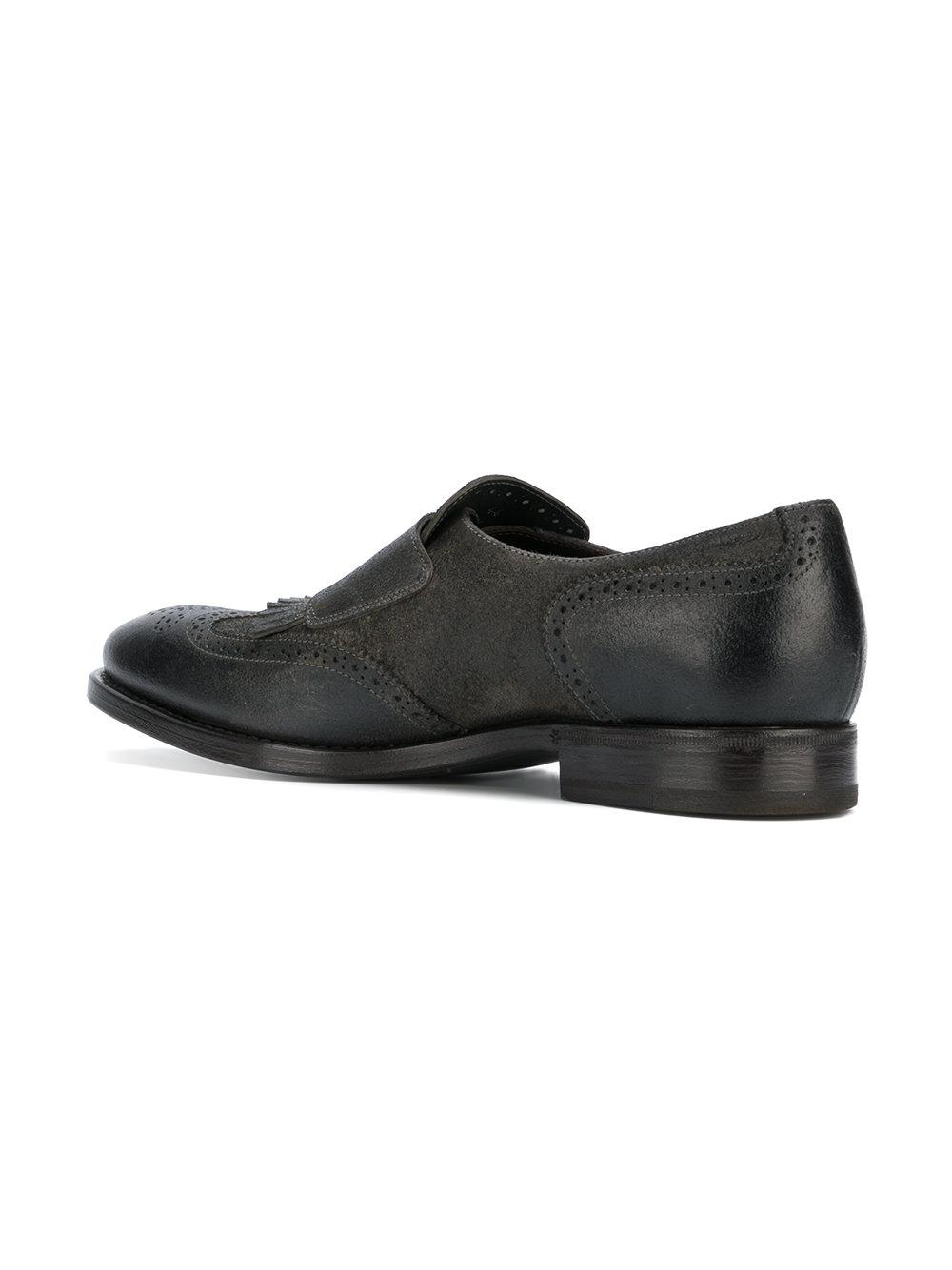 HENDERSON BARACCOMonk shoes 50401 suede fringes g8pRTk9AGc