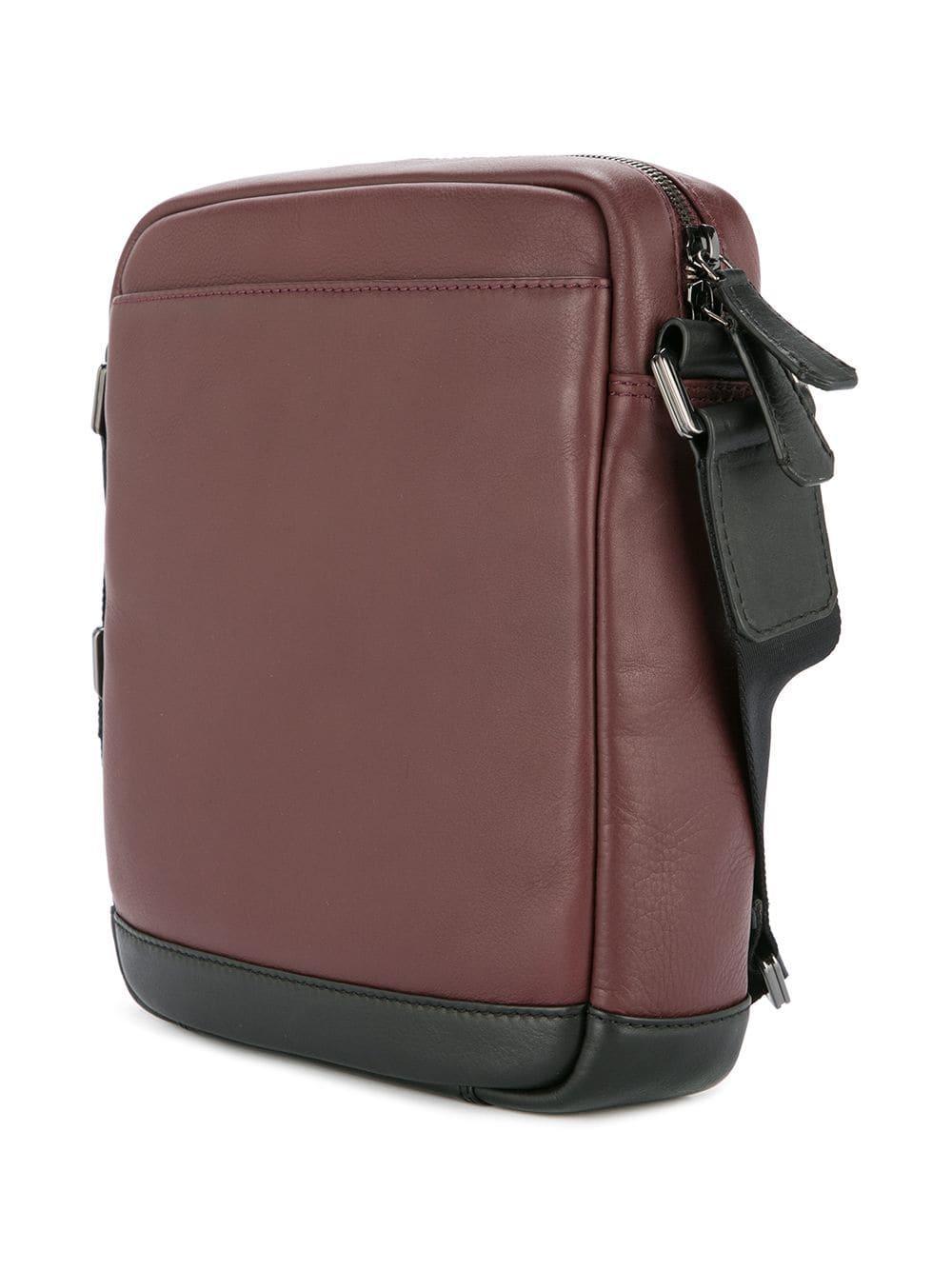 cd8d07f6443 Cerruti 1881 - Red Buckled Messenger Bag for Men - Lyst. View fullscreen