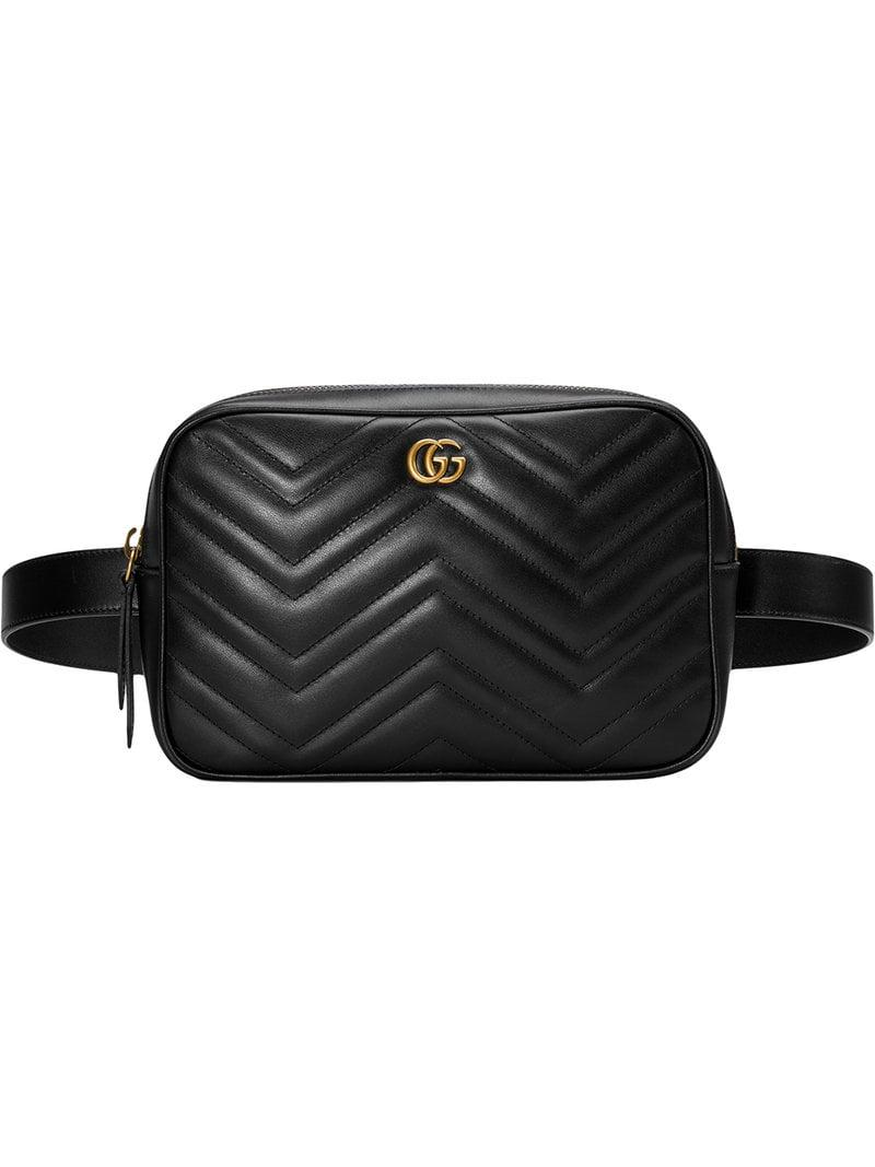 b9be33b4af526 Lyst - Gucci GG Marmont Matelassé Belt Bag in Black for Men