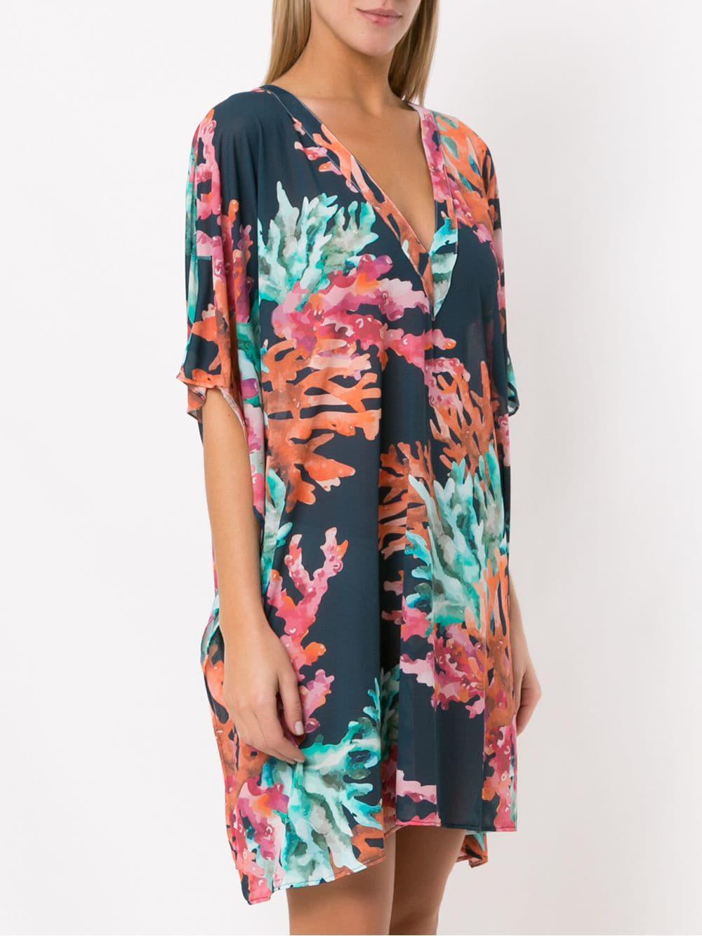 da9b53a256 ... Printed Beach Dress - Lyst. View fullscreen