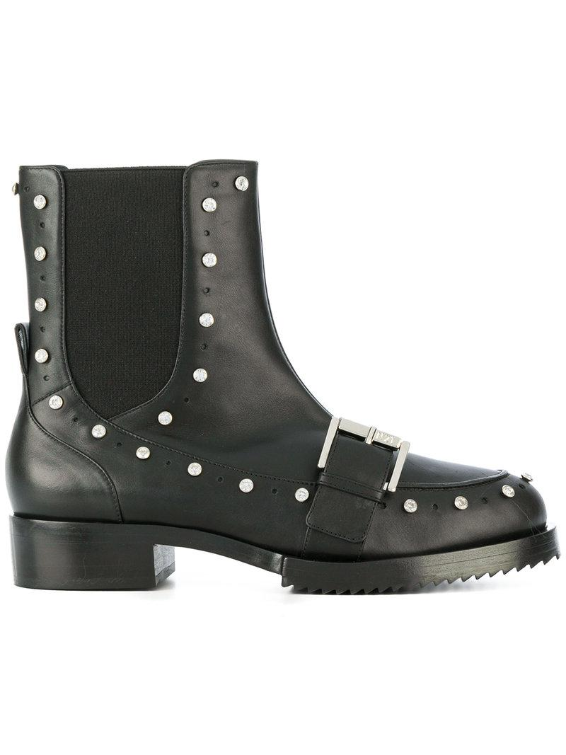 Cheap Footlocker Pictures embellished biker boots - Black N Cheap Sale Latest Dgh4Z