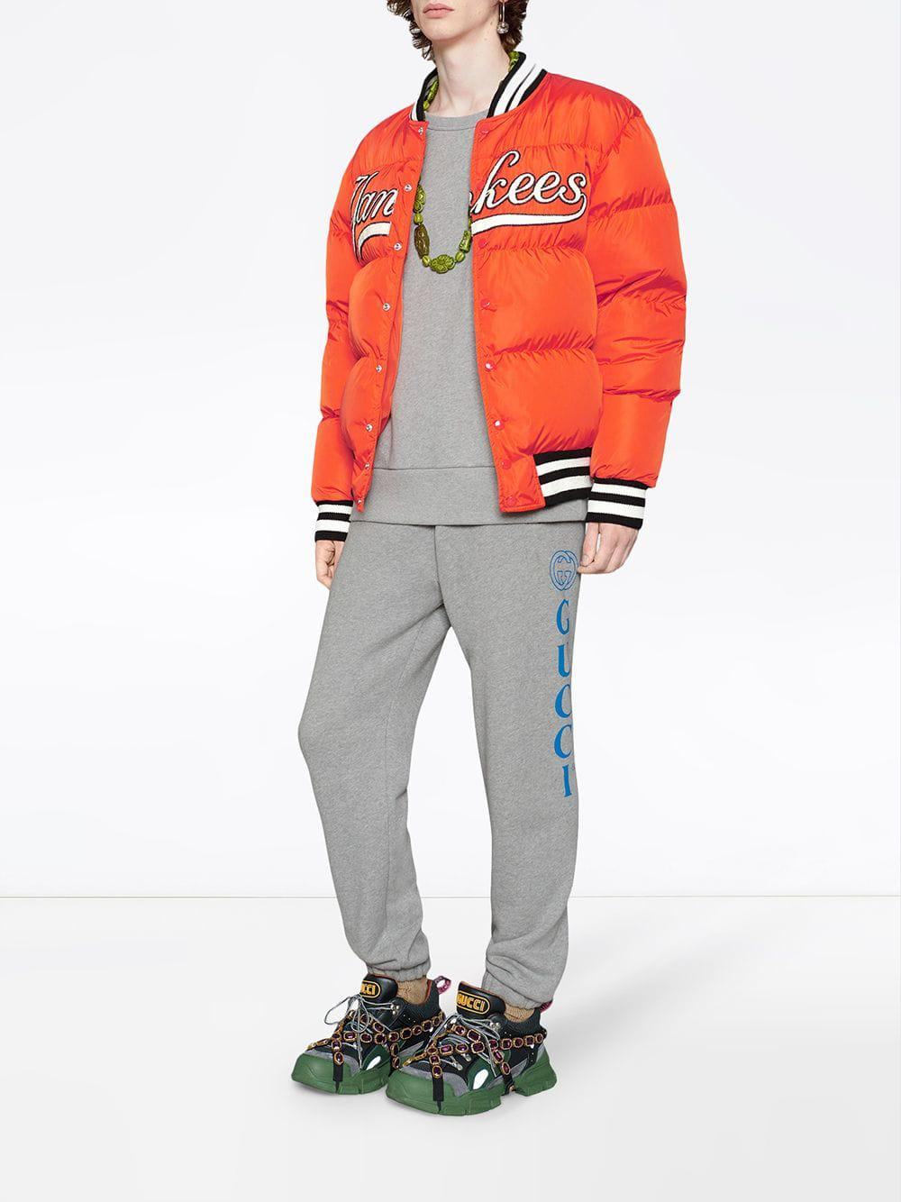 ee0858b1728 Lyst - Gucci Sweatshirt With La Angelstm Patch in Gray for Men