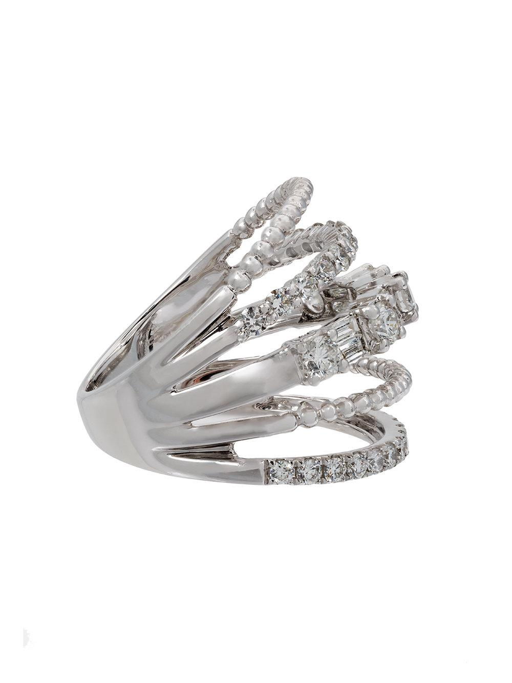Shay baguette diamond five row ring - Metallic tX27q