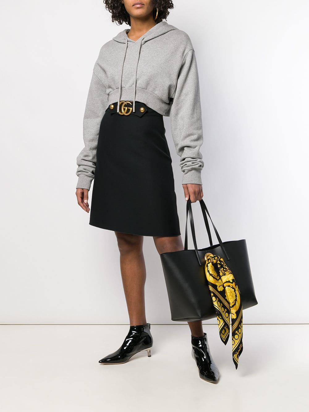 Versace Baroque Scarf Tote Bag in Black - Save 16.094584286803965 ... aa434718783c0