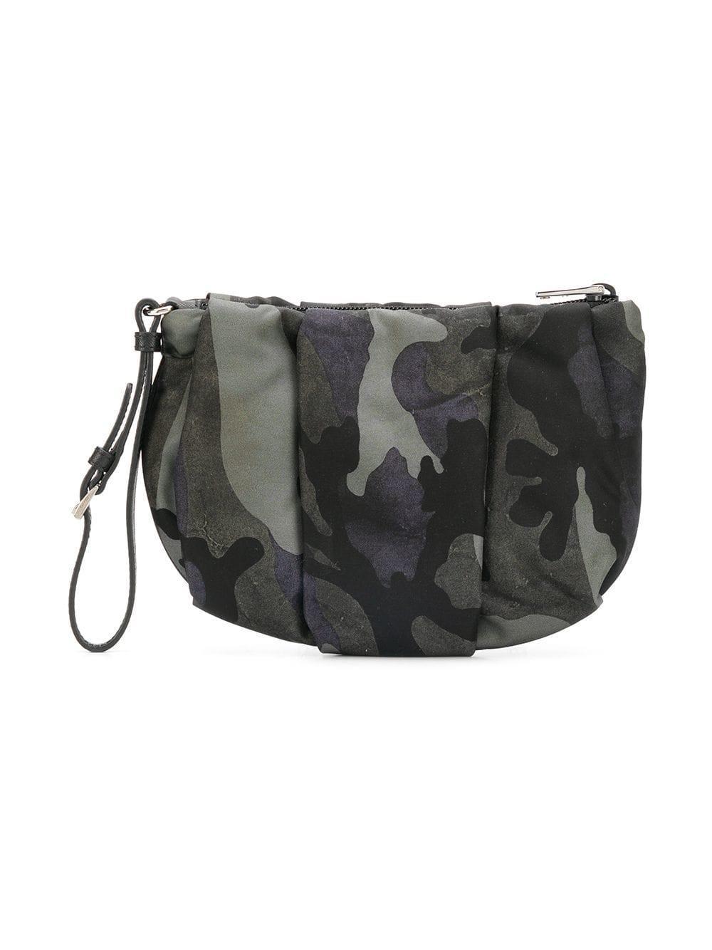 0e346ab33253 ... low price prada black nylon camo make up bag lyst. view fullscreen  a2dc9 cd14c