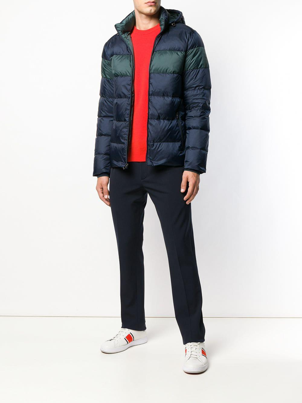 5d41ad3acf2c Lyst - Michael Kors Hooded Padded Jacket in Blue for Men