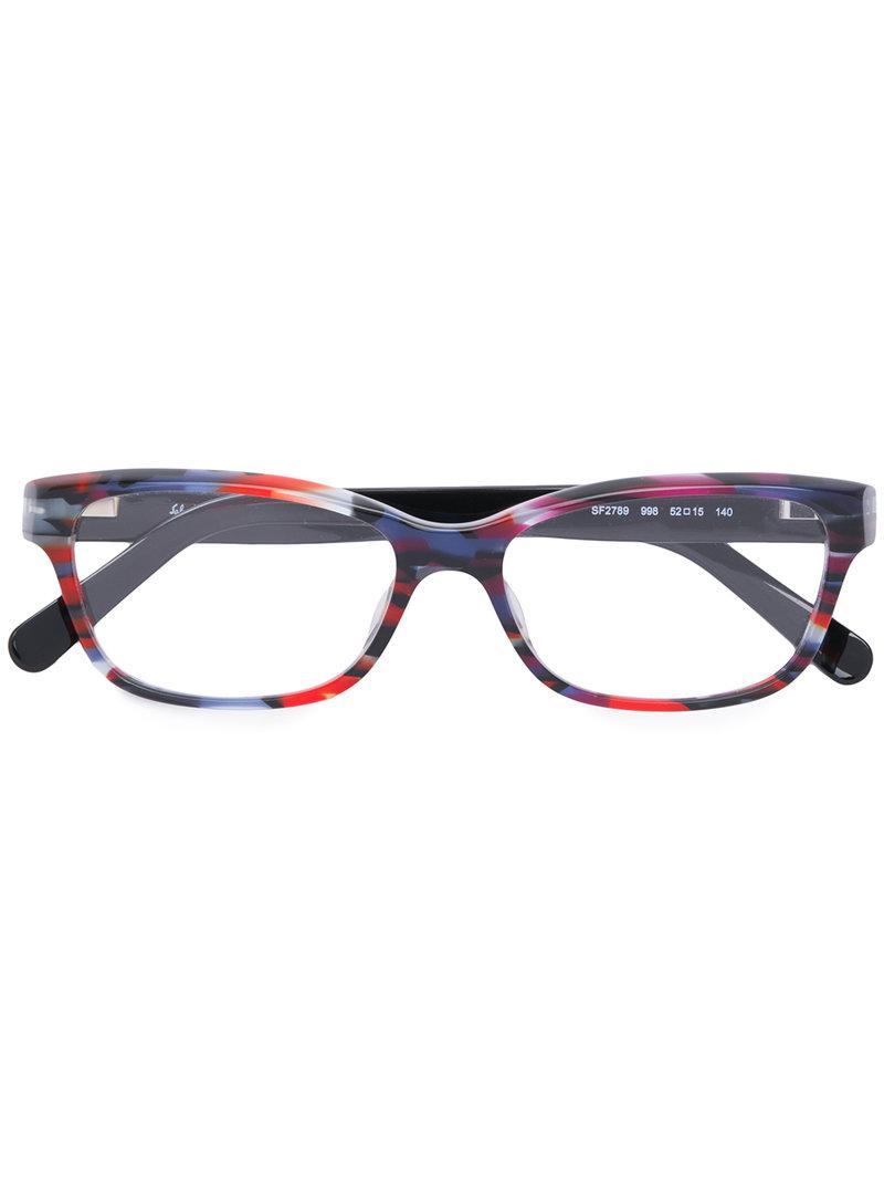 8a6c50b76c5 Lyst - Ferragamo Square Frame Glasses in Black