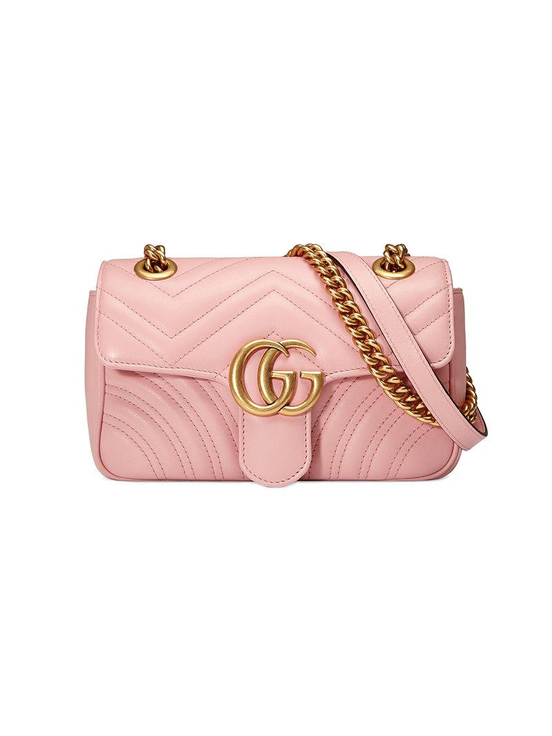 b462769d0751 Gucci Gg Marmont Matelassé Mini Bag in Pink - Lyst