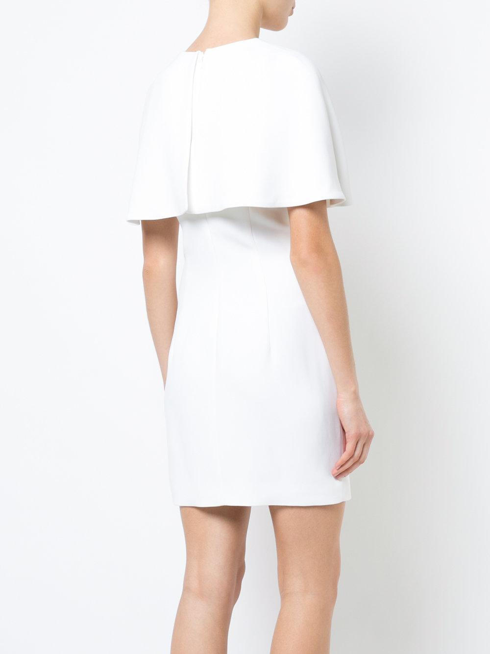 0c37b7a2b6 Lyst - Cushnie et Ochs Fitted Cape Dress in White