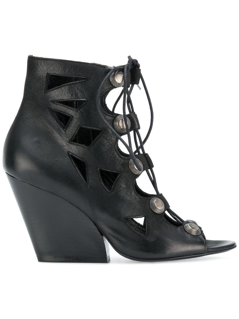 lace-up sandals - Black Strategia fNuSov