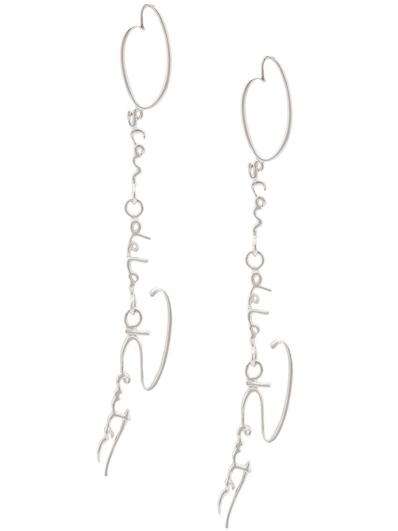 signature earrings - Metallic Oscar De La Renta oN1b8FY
