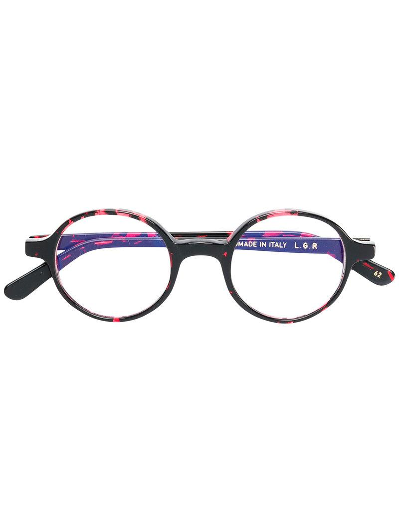 0ad775378c0 Lgr Reunion Round Frame Glasses in Red - Lyst