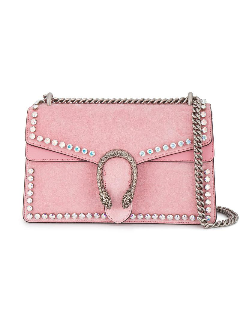 451a5f038 Gucci Dionysus Studded Shoulder Bag in Pink - Lyst