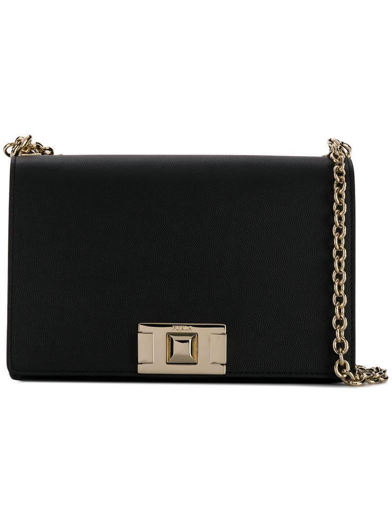 5d032db21303 Lyst - Furla Mimi Shoulder Bag in Black