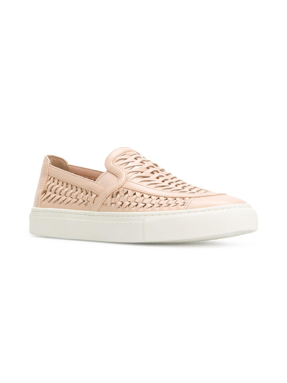 Huarache slip-on sneakers - Nude & Neutrals Tory Burch