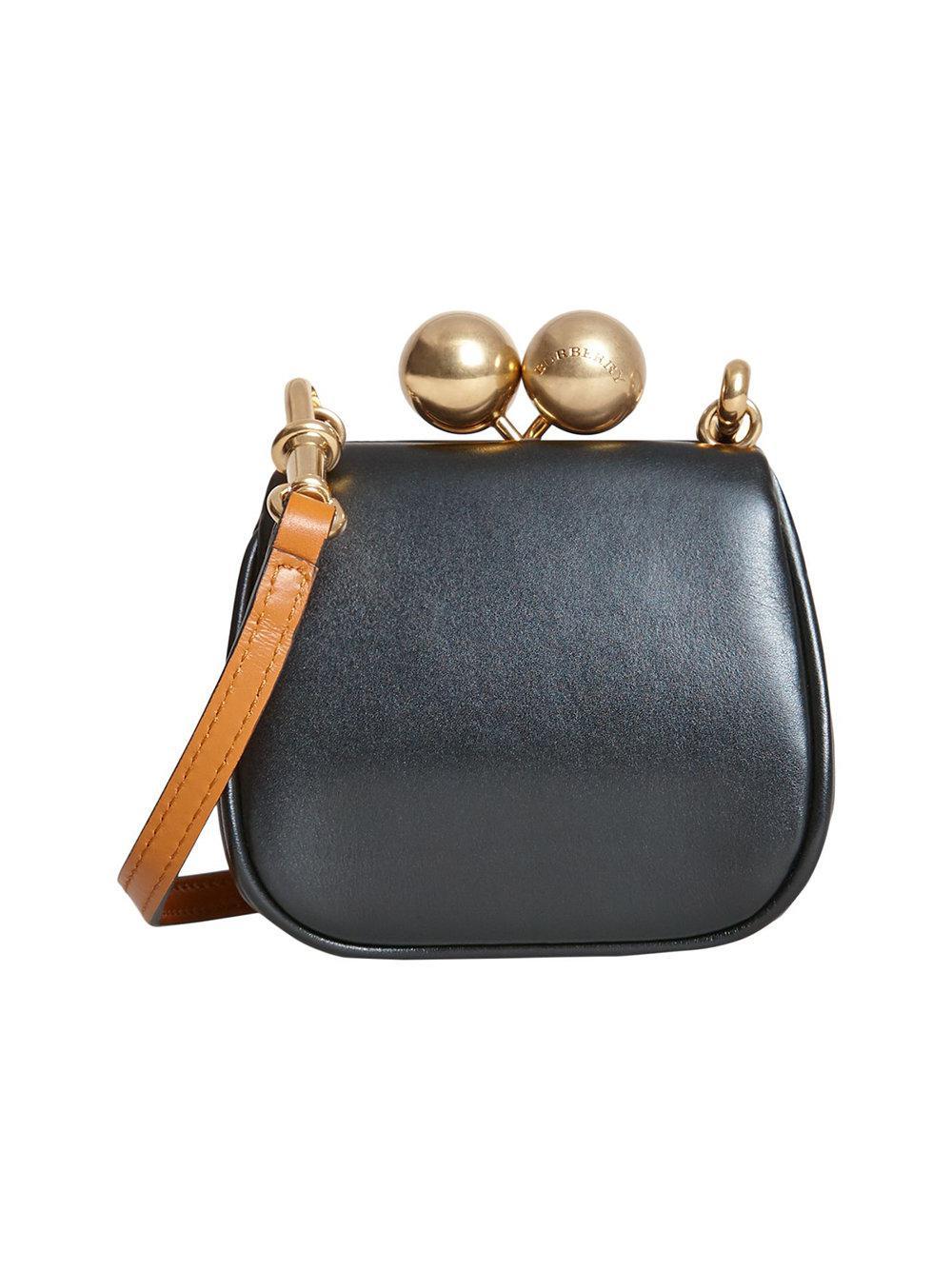 276dd0f22f4c Lyst - Burberry Mini Metal Frame Clutch Bag in Black