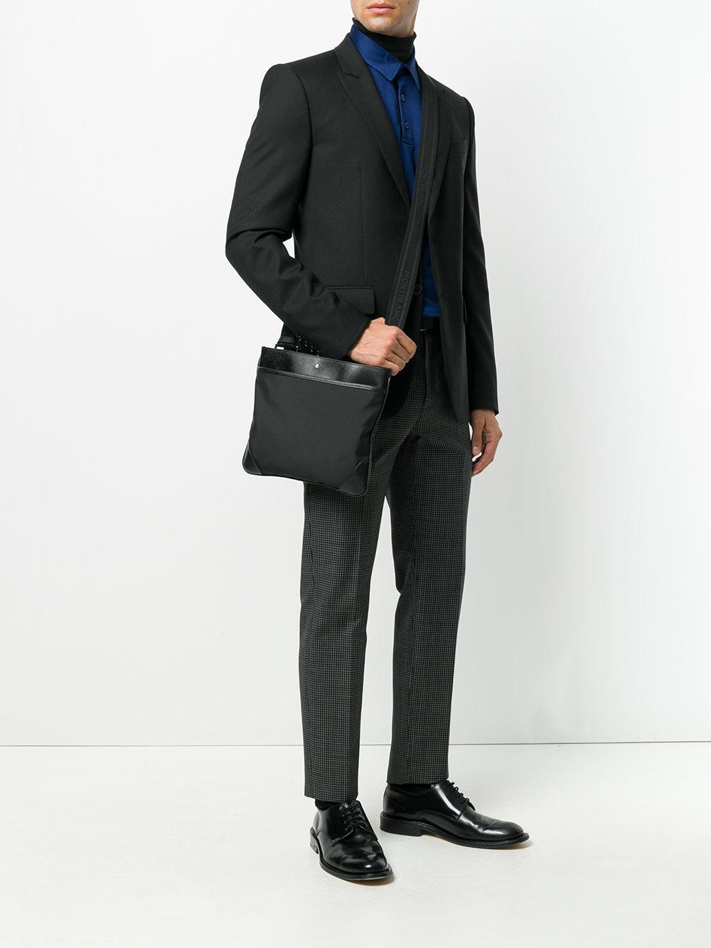 cc0a888f3a Petit sac porté épaule Jet Montblanc pour homme en coloris Noir - Lyst