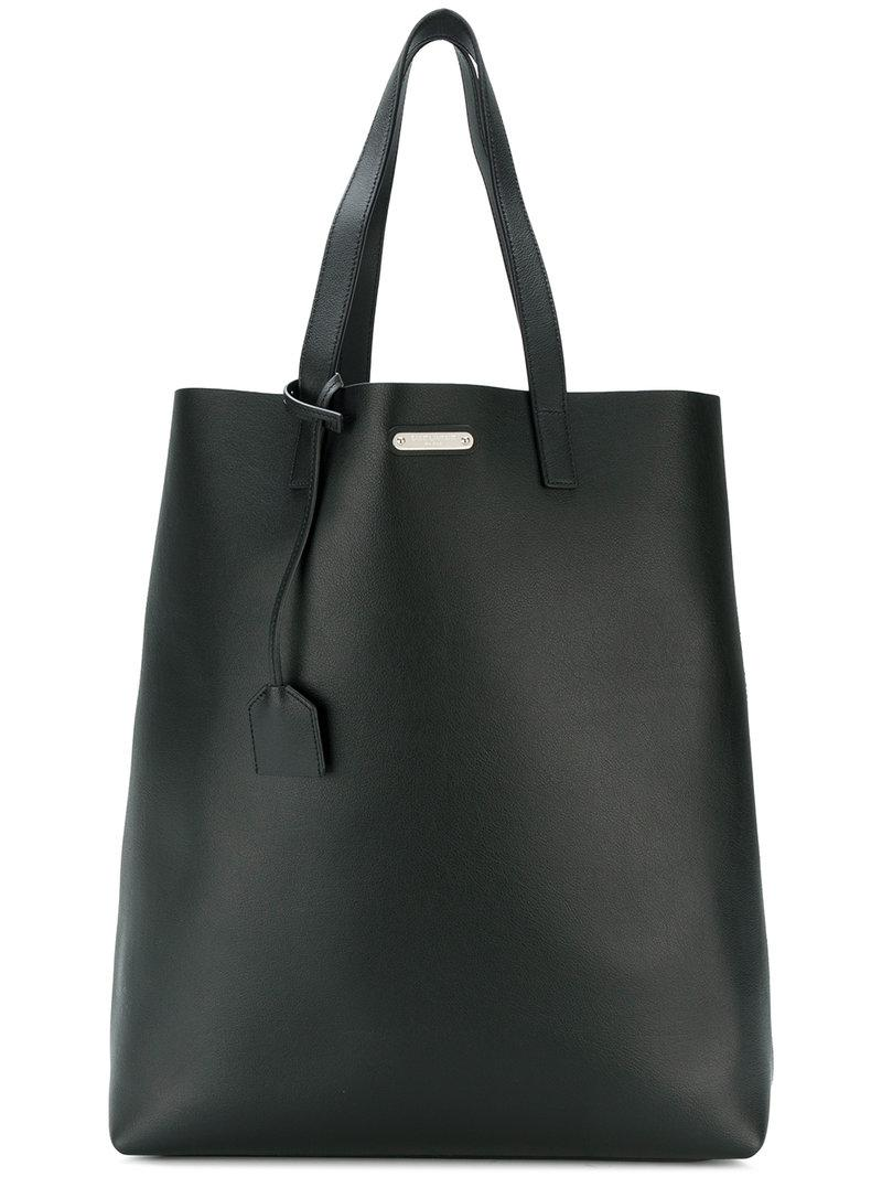 96623a2688610 Saint Laurent - Black Shopper Tote Bag for Men - Lyst. View fullscreen
