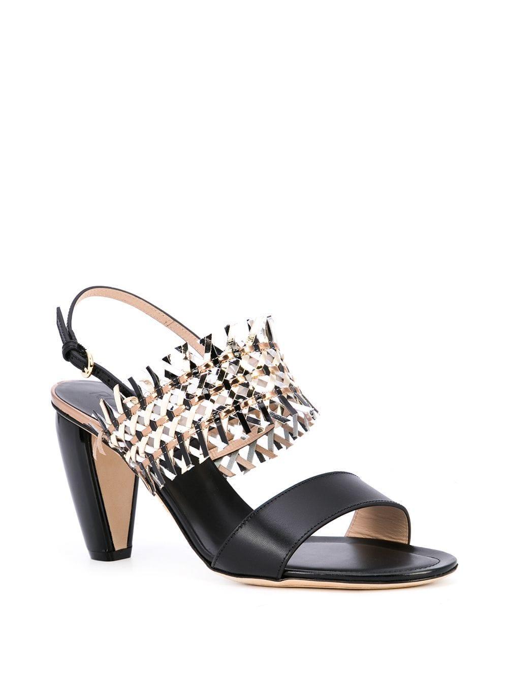 23a011906e90 Lyst - Rodo Woven Strap Sandals in Black