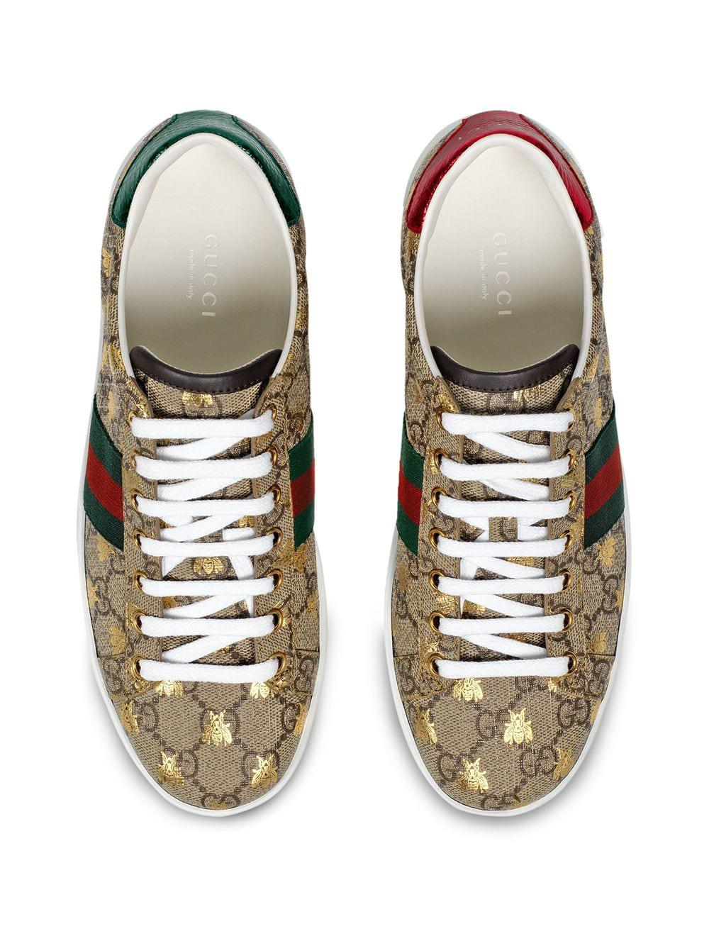 68ca39aaa Gucci - Multicolor Ace GG Supreme Sneaker With Bees - Lyst. View fullscreen
