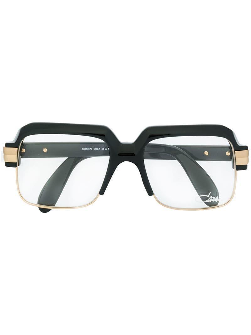 bd1b56e680f Cazal Oversized Square Glasses in Black for Men - Lyst