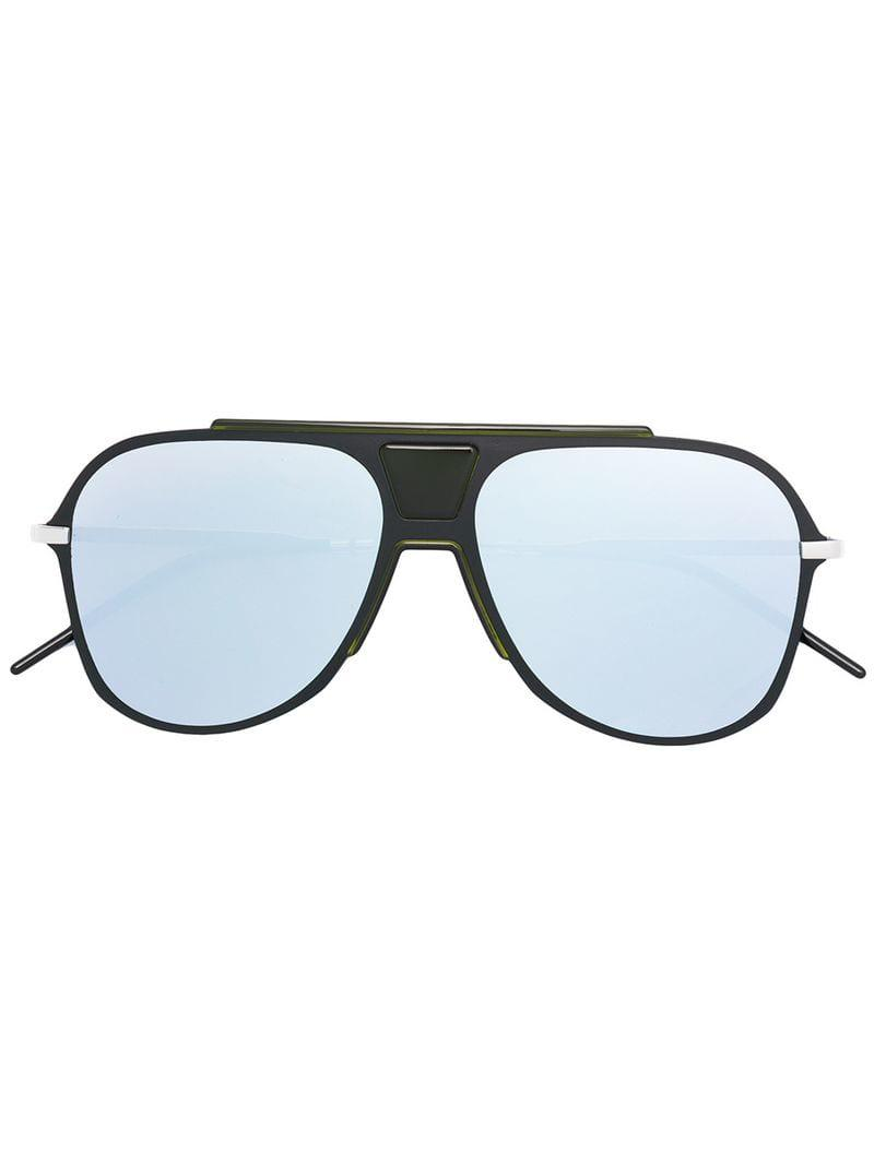 36177412bf1 Dior Mirrored Aviator Sunglasses in Black - Lyst