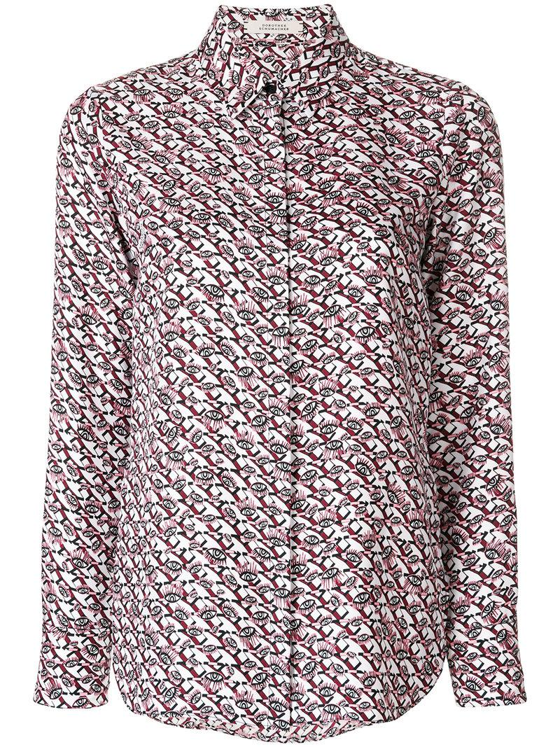 Dorothee Schumacher eye print shirt Cheap Price Top Quality Collections For Sale Best Sale Free Shipping New OETxPiAe