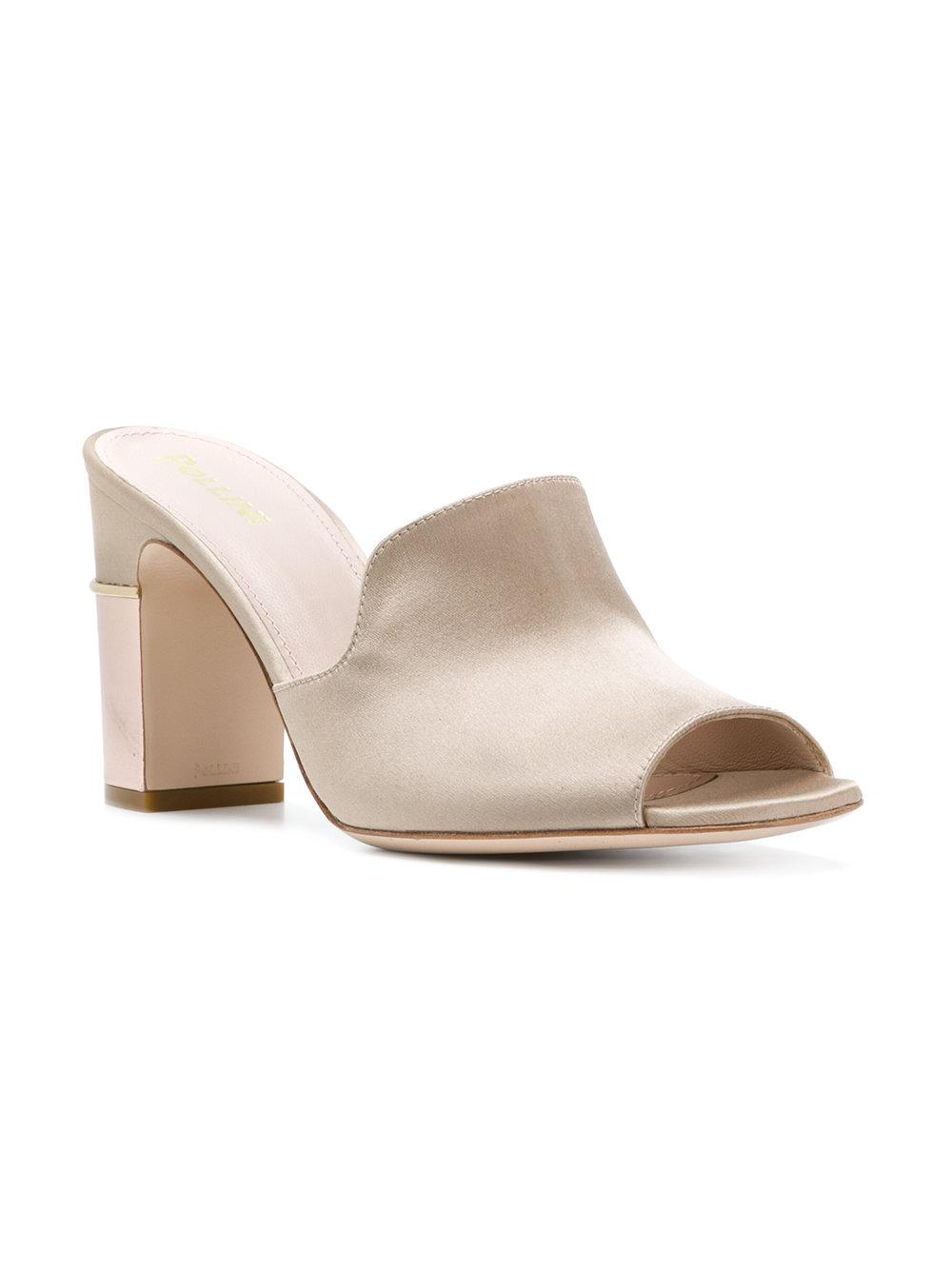 open toe mules - Grey Pollini kE8klB