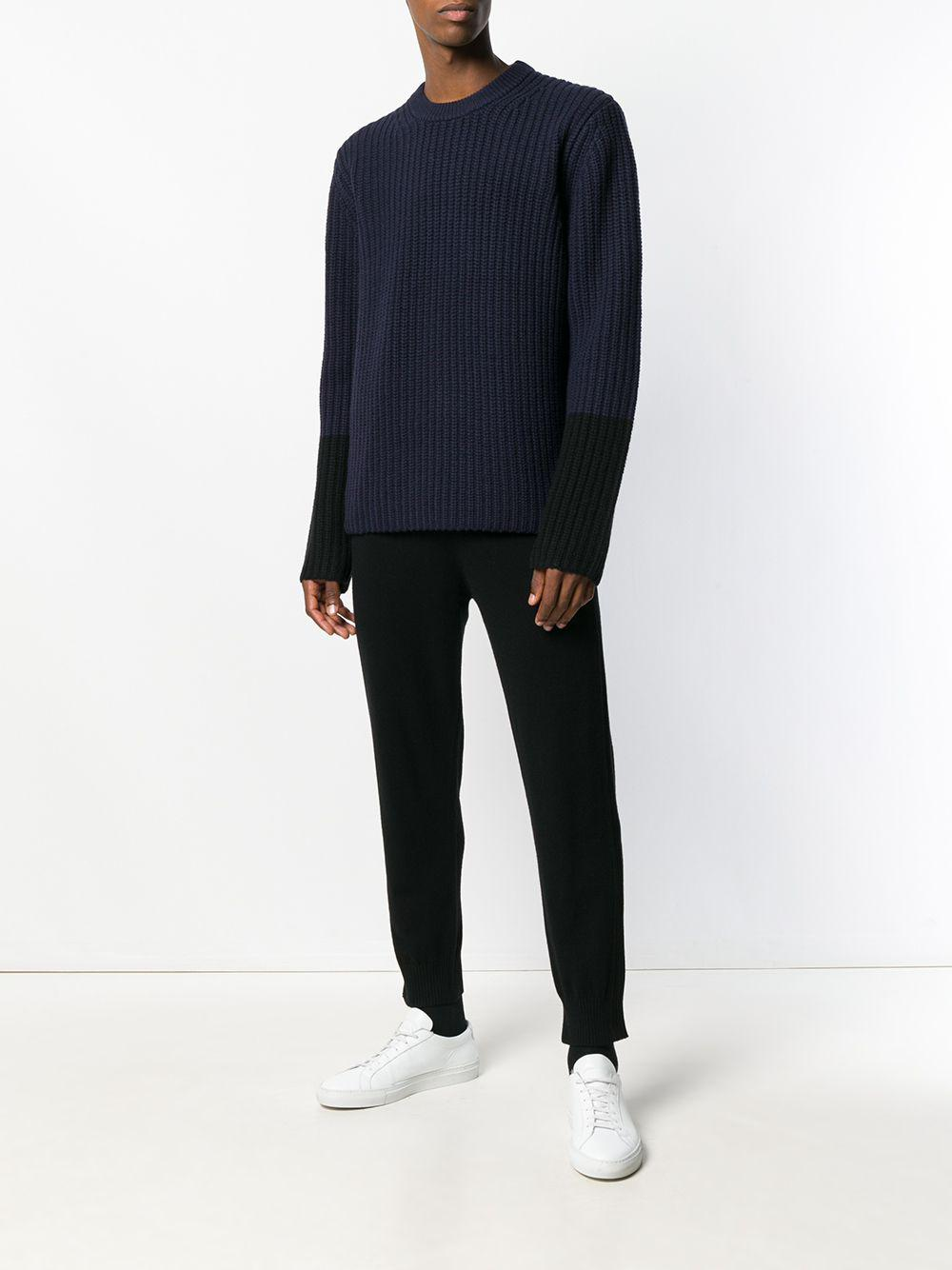 For Joseph In Men Crew Blue Knit Sweater Lyst Neck fqrAwYCq
