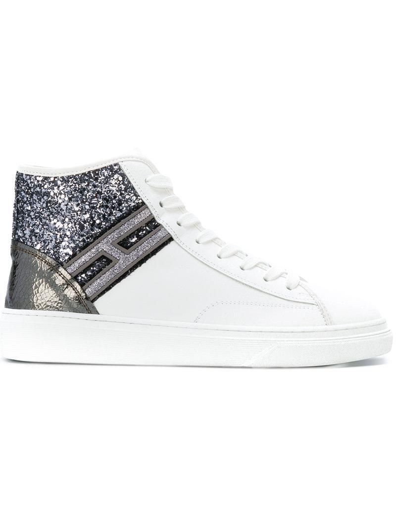 glitter hi-top sneakers - White Hogan Xwi5uWxYCD
