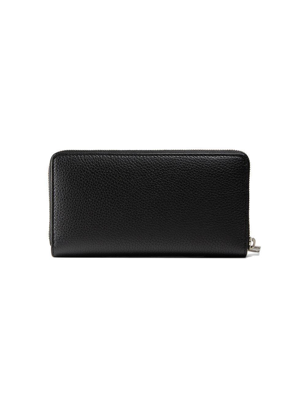 8ef2b8edb460 Lyst - Gucci Leather Zip Around Wallet in Black