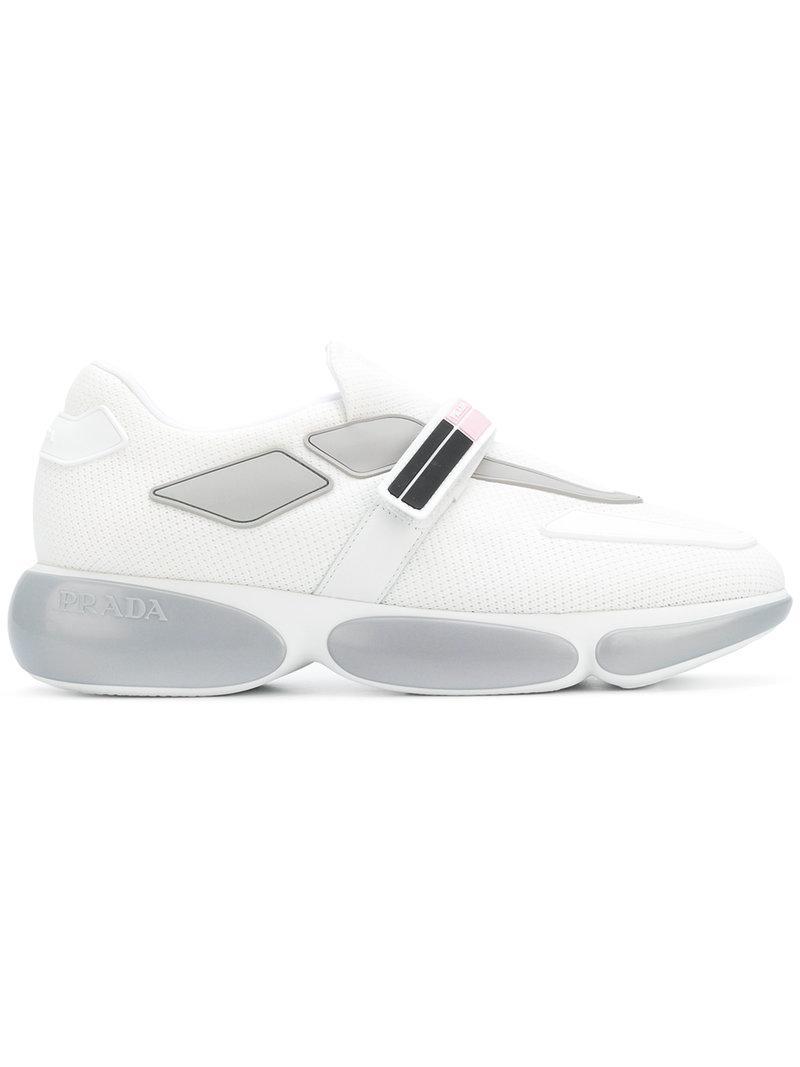 logo touch-strap sneakers - Black Prada ceQr5riH
