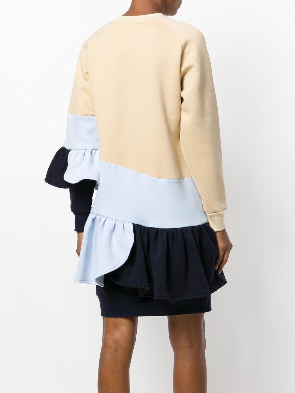 colour-block frill dress - Nude & Neutrals Ioana Ciolacu Pqbnu5