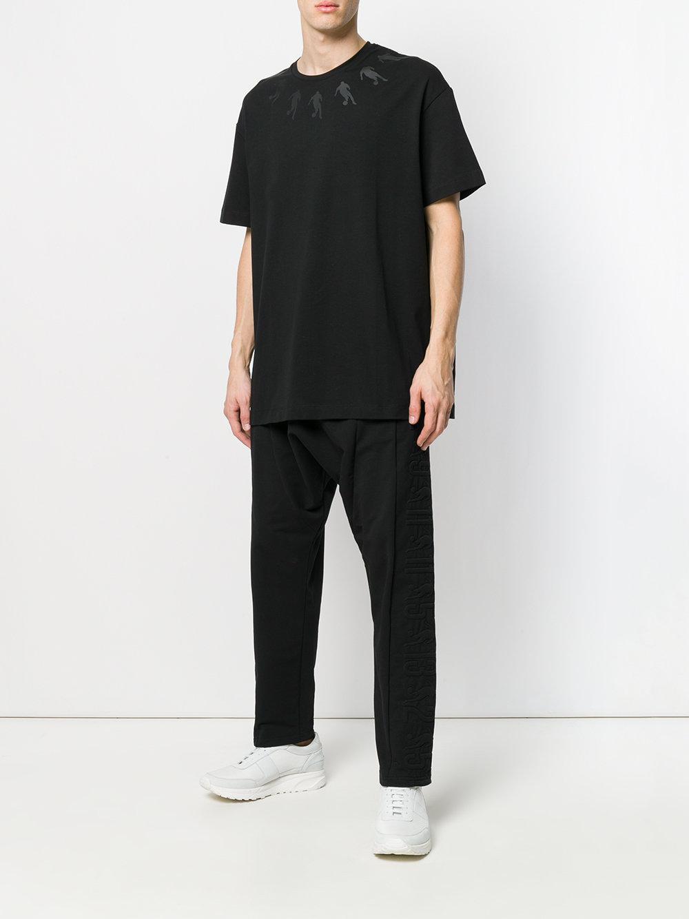Discount Wiki printed neckline T-shirt - Black Dirk Bikkembergs Clearance Fake Cheap Sale Very Cheap AJD2GW