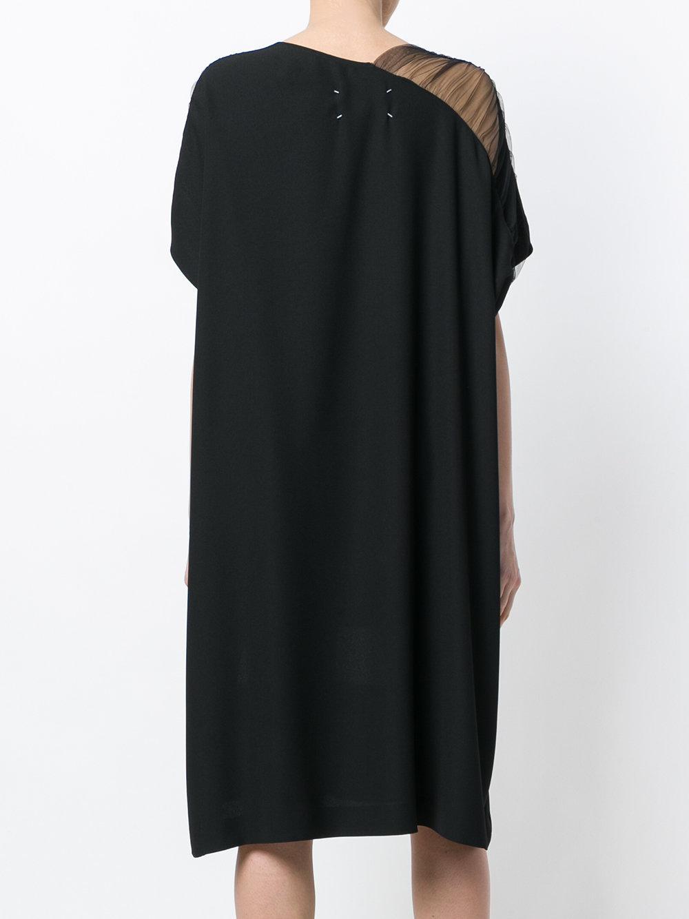 negro Margiela Maison de Lyst vestido con recto paneles CtxwAZxdq4