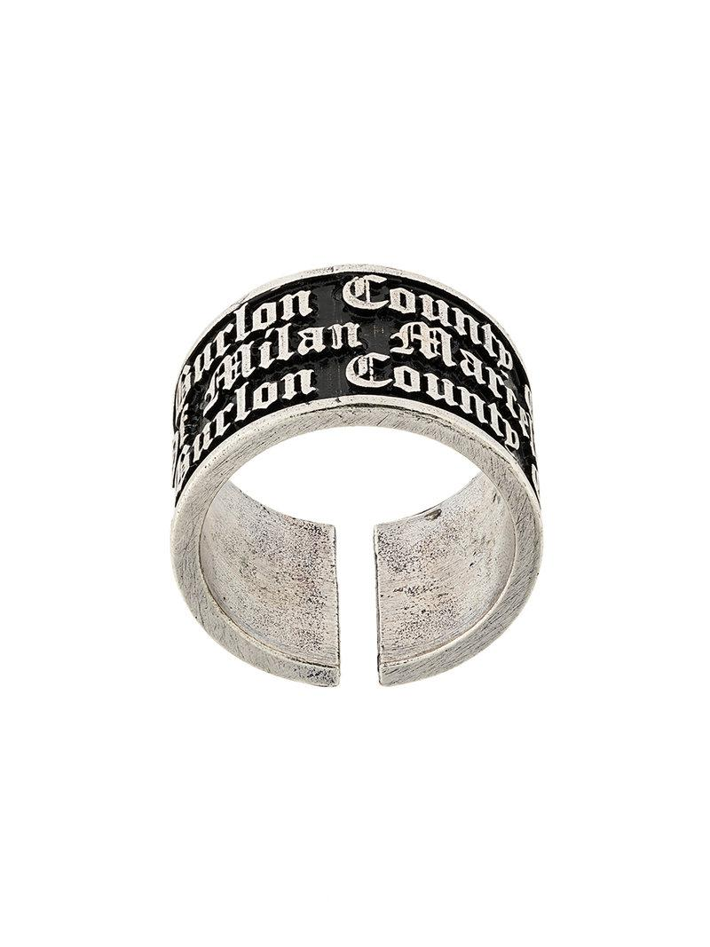 Marcelo Burlon Cross ring - Metallic pBnF2Q